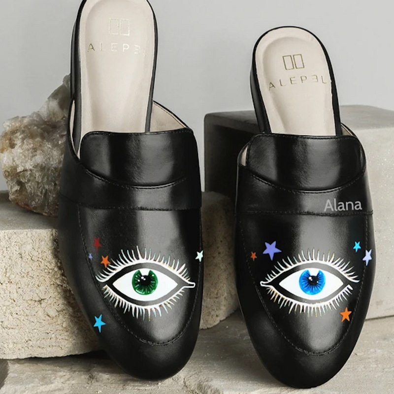 Black Mules (Eyes Stars)