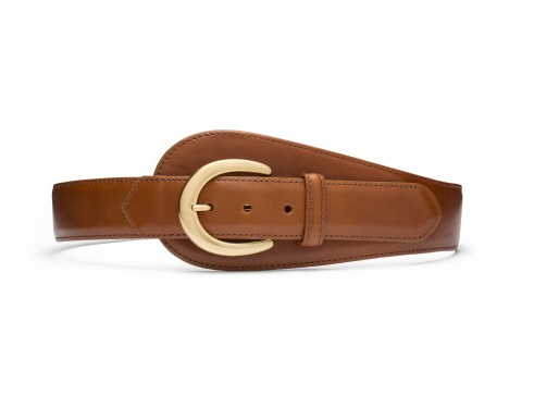 Glazed Calf Large Tab Belt
