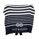 Tie the Knot Throw (Navy/Just Married)