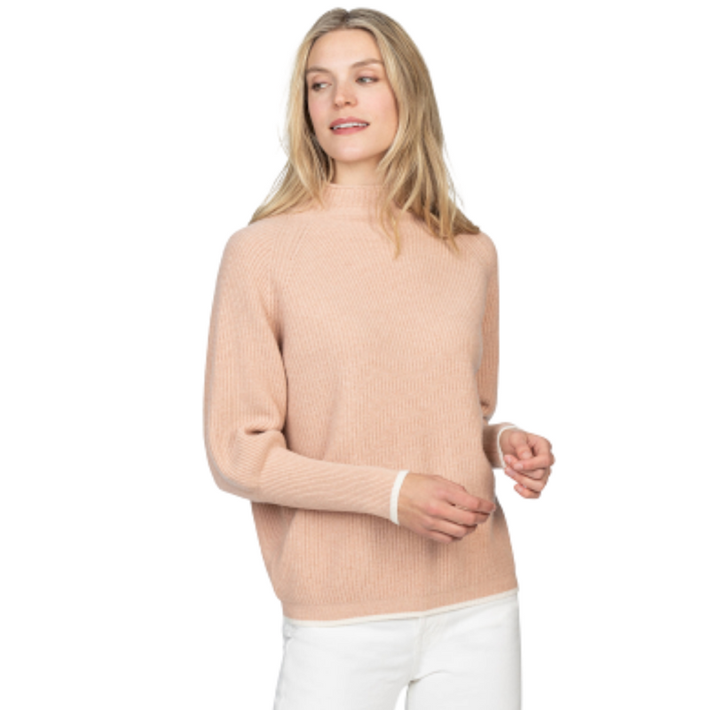 Oversized Funnel Neck Sweater (Pink Sand)