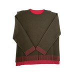Drop Shoulder Reversible Sweater