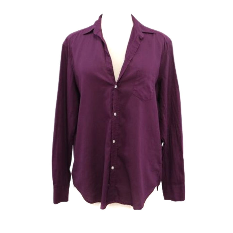 Eileen Button Down (Plum Light Poplin)