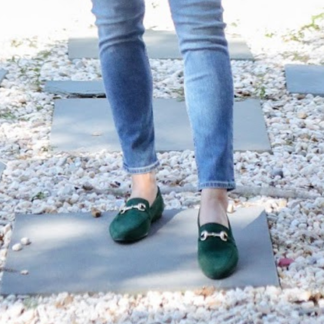 Link Loafer Suede Green
