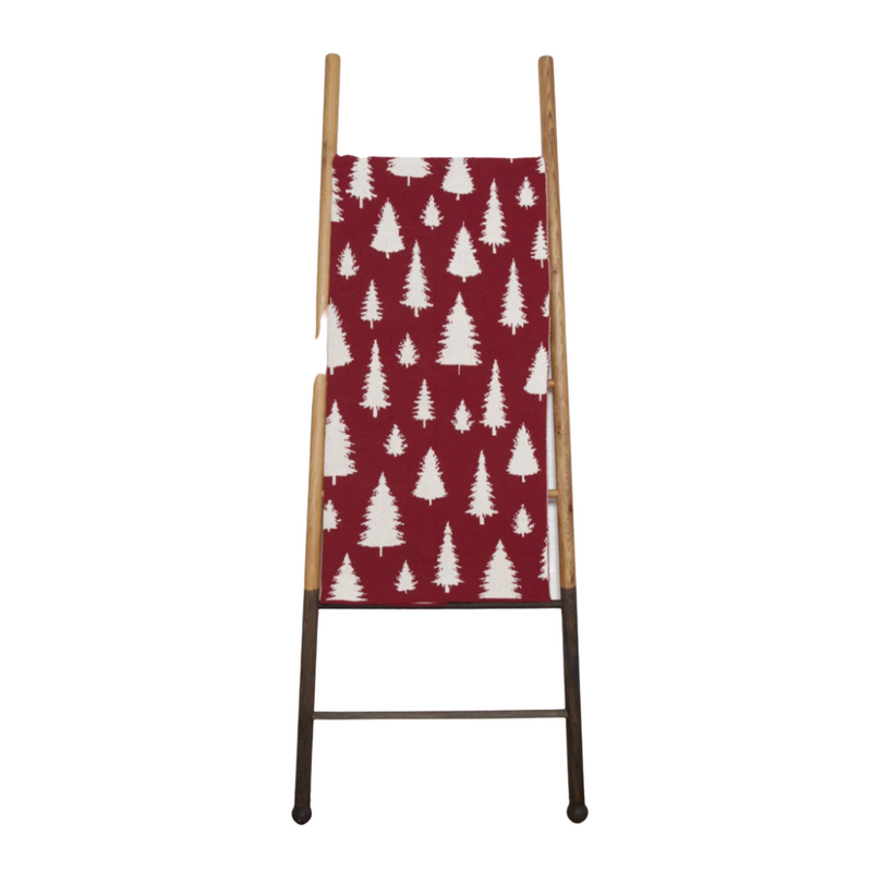 Reversible Fir Trees Throw (Pomegranate)