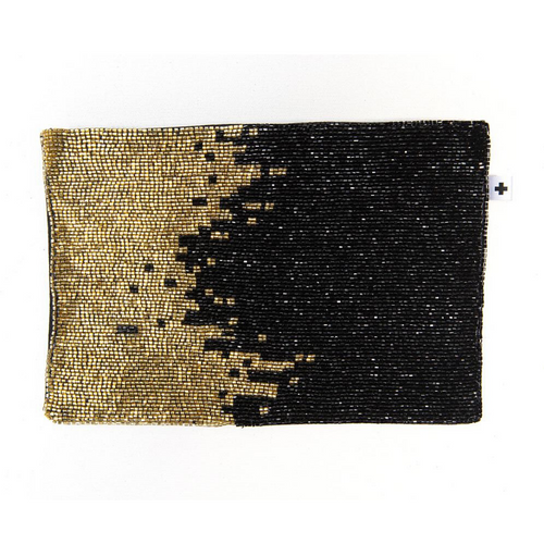 Ombre Beaded Clutch Bag