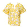 Idette Printed Flutter Sleeve (Yellow)