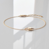 Bella Lock Detail Bracelet Gold