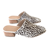 Leyna Calf Hair Square Toe Mule
