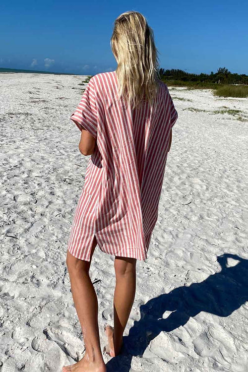 Baja Caftan (Muted Clay Stripe)