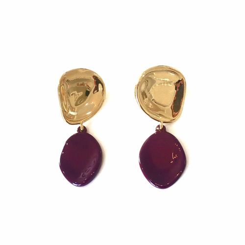 Mithras Earrings Gold + Berry