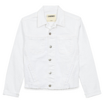 Janelle Slim Denim Jacket (Blanc)