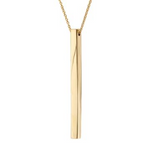 Thin Bar Pendant Necklace (Gold)