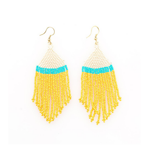 Stripe Fringe Earrings