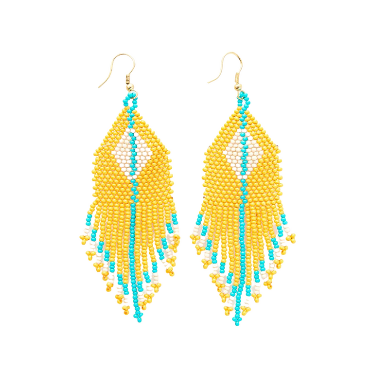 Diamond with Stripe Earrings