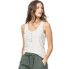 Henley Stripe Tank (Cream Stripe)