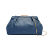 Mini Florence Soft Clutch in Steel Blue Smooth