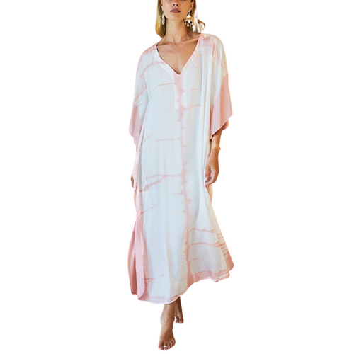 Tie Dye Caftan (Muted Clay)