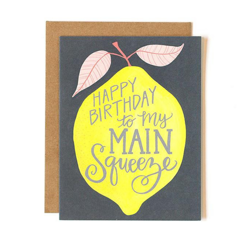Lemon Birthday Main Squeeze Card