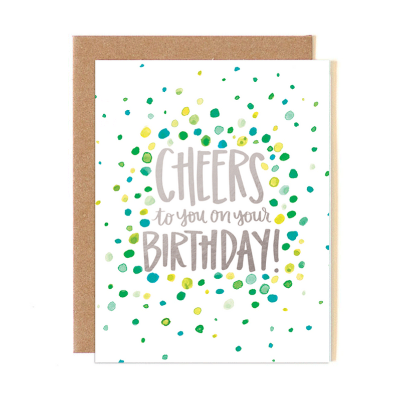 Dot Cheers Birthday Card