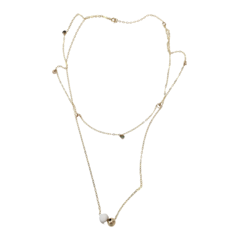 Double Layer Necklace (White)