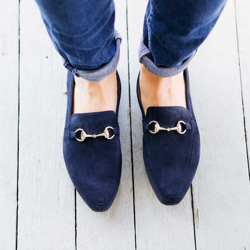 Link Loafer Suede Navy