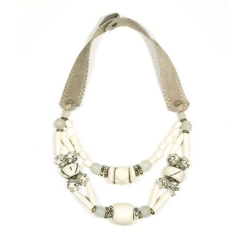 Woven Classic Necklace (Ivory)