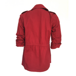 Ruby Cotton Twill Jacket (Red)