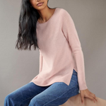 Cashmere Side Slit Top (Ballet Pink)