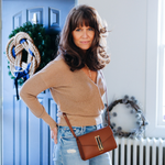 Quebec Convertible Clutch in Cognac Smooth
