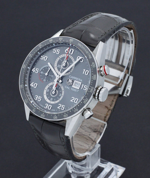 TAG Heuer Carrera Stainless 1887 CAR2A11 - TAG Heuer horloge - TAG Heuer kopen - TAG Heuer heren horloge - Trophies Watches