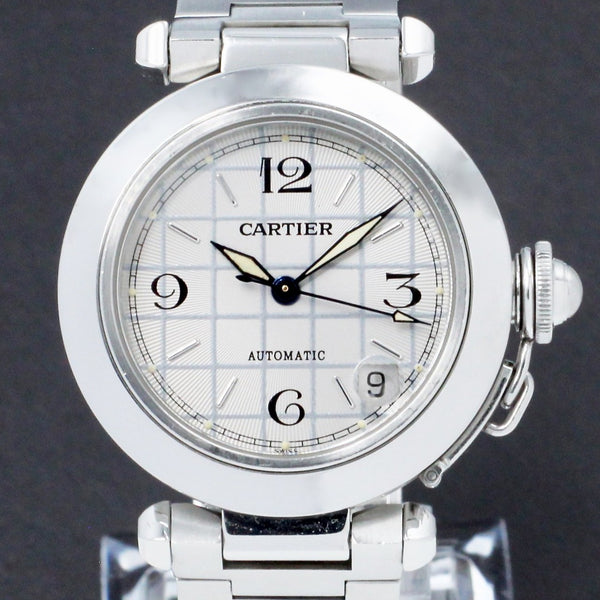 Cartier Pasha C Watch W31023M7 - Cartier horloge - Cartier kopen - Cartier heren horloge - Trophies Watches