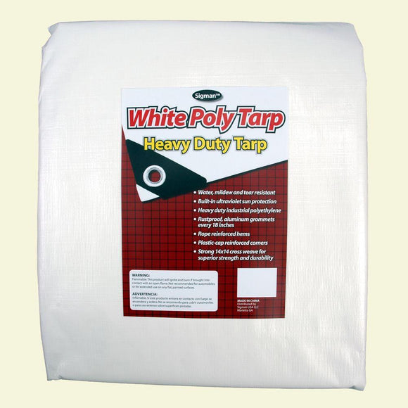 White Heavy Duty Tarps - Canopy Tarp and Carport Tarp