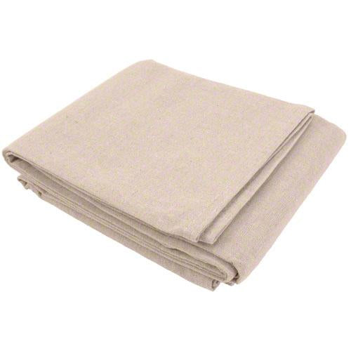 Sigman 4' x 15' Canvas Drop Cloth with Poly Backing - 12-Pack