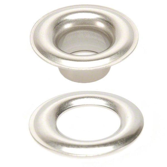 Sigman Stainless Steel Plain Grommets with Plain Washers - Size 00 - 144-Pair Pack
