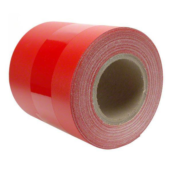 Sigman 6 in. x 50 ft. Tarp Repair Tape - 18 Vinyl Coated Polyester - Red