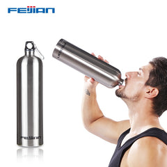 Feijian Sport Water Bottle Large capacity Portable Stainless Steel Wide Mouth Drinking Outdoor Travel Cycle Kettle flask camp