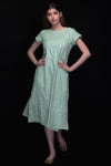 Mint Green Muslin Straight Dress