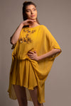 Mustard Yellow Pure Silk Georgette Tunic