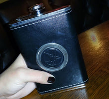 Load image into Gallery viewer, Pentarabbit Logo Flask with Hidden Shotglass
