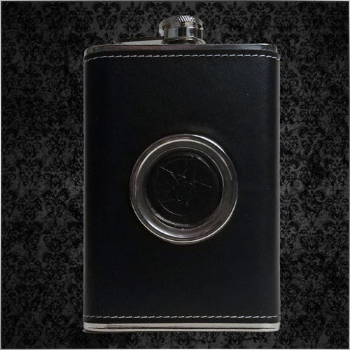 Pentarabbit Logo Flask with Hidden Shotglass