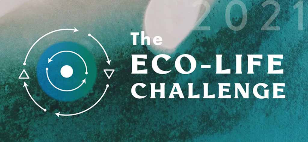 Eco-Life Challenge Logo. Celebrate Earth Day