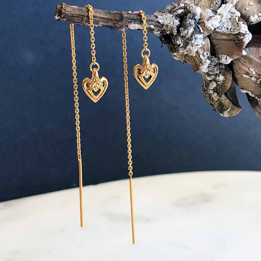 Small business ethical gifts under $50 threader earrings