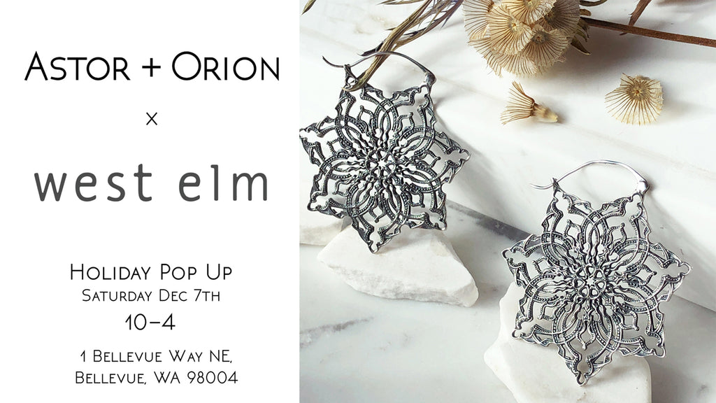 Astor + Orion ethical jewelry pop up at West elm