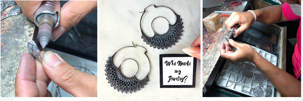 Ethical jewelry made from recycled metals and lost wax casting
