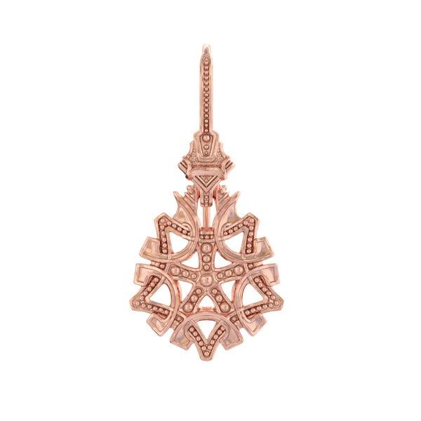 ASTOR + ORION Maria drop earring in rose gold on white background
