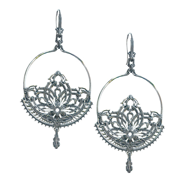 Lotus Dangle Earrings