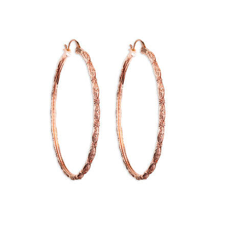 Corazon Silver Hoop Earrings