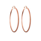 Anacita Braided Rose Gold Hoop Earrings