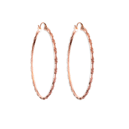 Anacita Braided Silver Hoop Earrings