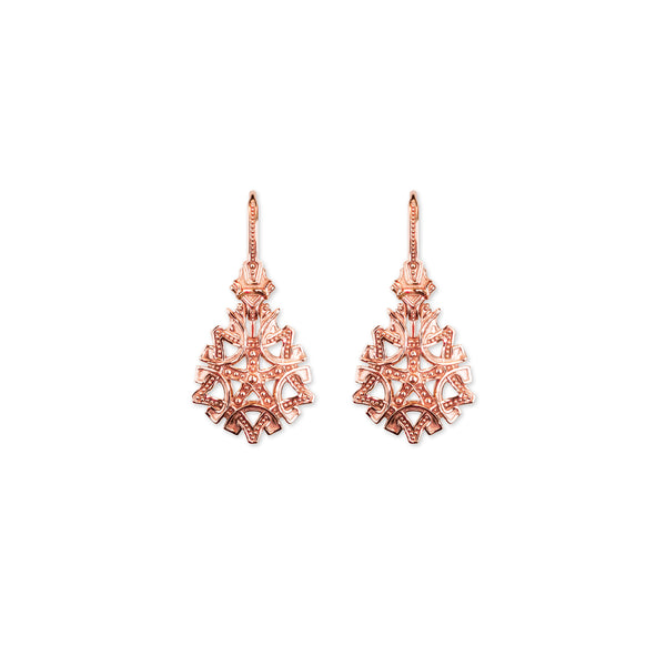 Maria Drop Earrings- Rose Gold